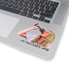 Load image into Gallery viewer, Stephanie My Favourite Wine Kiss-Cut Stickers