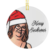 Load image into Gallery viewer, Merry Secksmas Glass Ornament