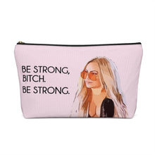 Load image into Gallery viewer, Darcey Be Strong Large Makeup Bag w T-bottom