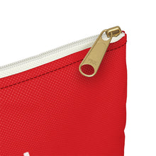 Load image into Gallery viewer, Red Makeup Double Sided Accessory Pouch