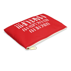 Red Makeup Double Sided Accessory Pouch