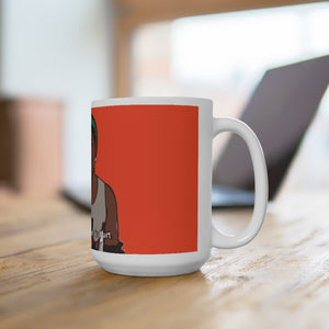 Boohole White Ceramic Mug 15oz