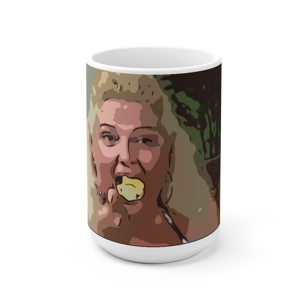 Angela Cake White Ceramic Mug 15oz