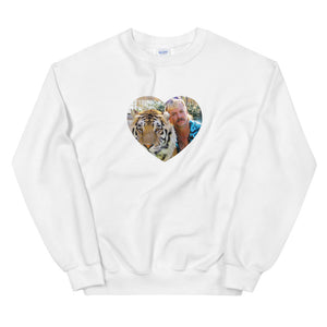 Tiger King Heart Unisex Crewneck Sweatshirt