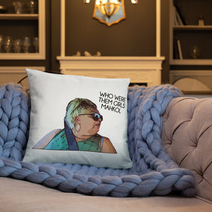 Angela Who Were Them Girls Throw Pillow