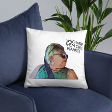 Load image into Gallery viewer, Angela Who Were Them Girls Throw Pillow