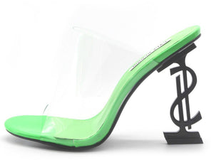 Stay Lowkey Green Heels