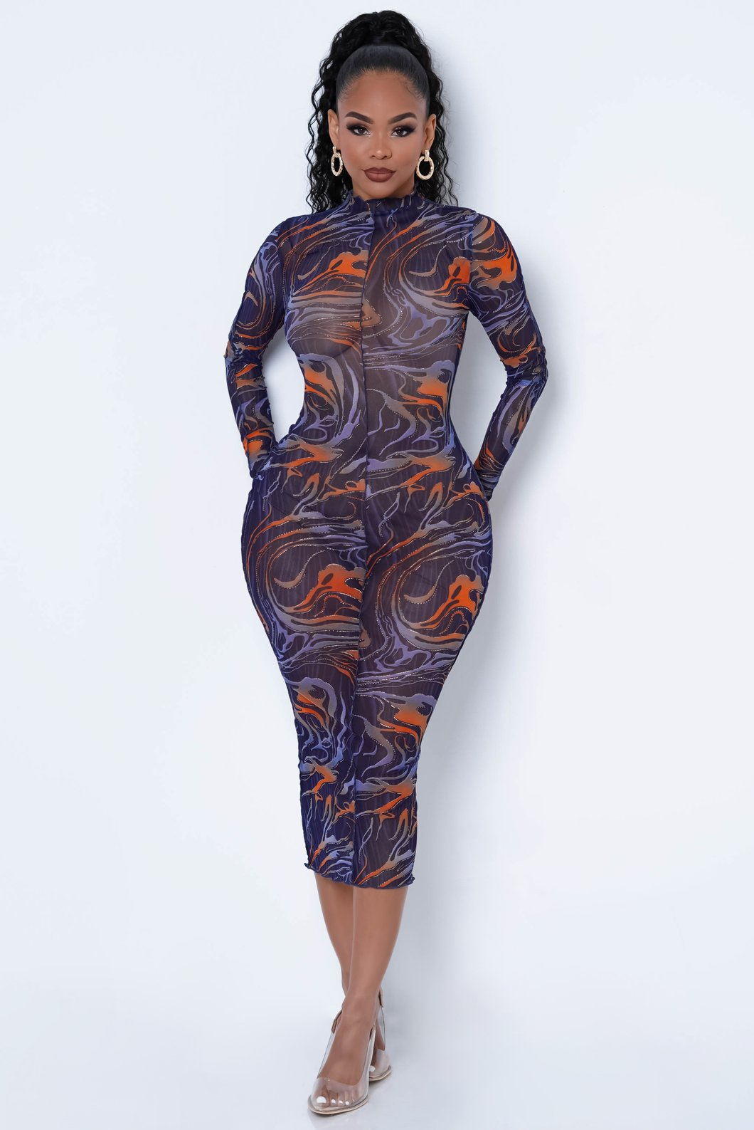 Girl On Fire Midi Dress