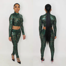 Load image into Gallery viewer, Shenelle Sequin Pants Set