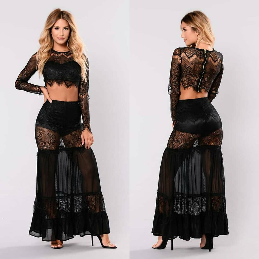Honey Lace Skirt Set