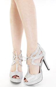 Gaze Silver Metallic Heels