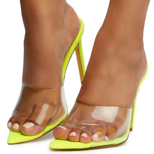 Load image into Gallery viewer, Evangeline Neon Yellow Heels