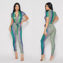 Load image into Gallery viewer, Geometric Print Jumpsuit