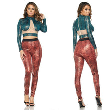 Load image into Gallery viewer, Snake Print Leggings Set