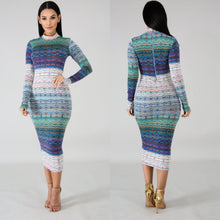 Load image into Gallery viewer, Tracing Bodycon Dress