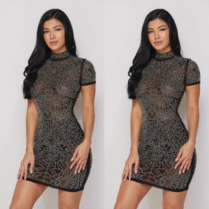 Rhinestone Drops Dress