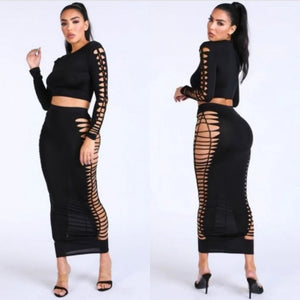 So Twisted Skirt Set