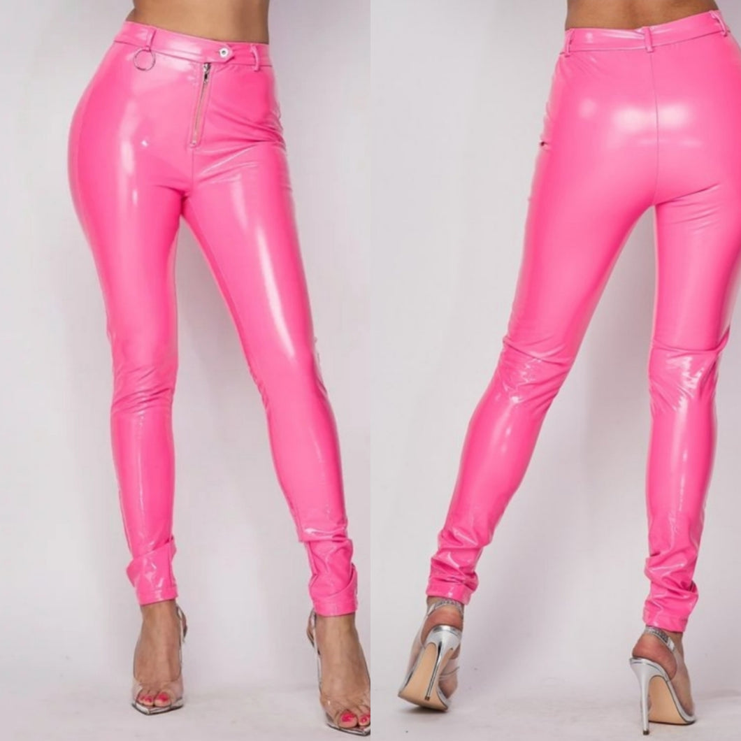 Pink Latex Pants