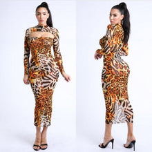 Load image into Gallery viewer, Weekend Animal Print Dress