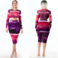 Load image into Gallery viewer, Vibrant Skirt Set