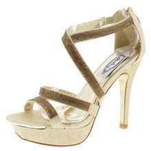 Load image into Gallery viewer, Marlo Gold Heels