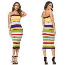 Load image into Gallery viewer, Multi Color Tube Dress