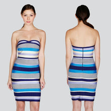 Load image into Gallery viewer, Stripe Tube Bandage Dress