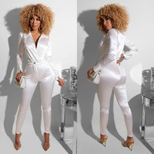Load image into Gallery viewer, Satin Bodysuit Pants Set