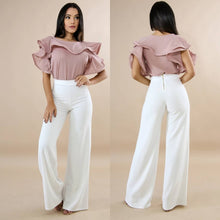 Load image into Gallery viewer, Classic White Palazzo Pants