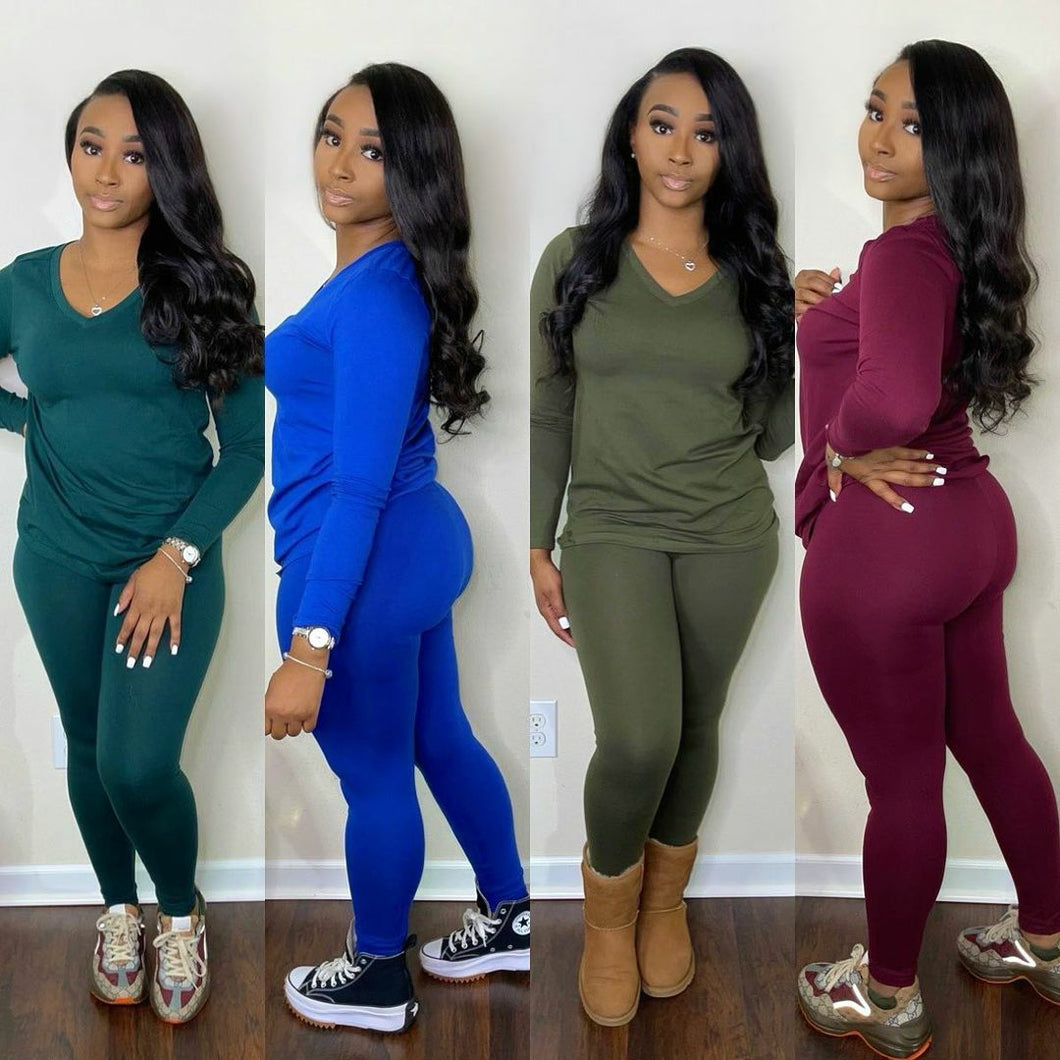 Casual Day Leggings Set