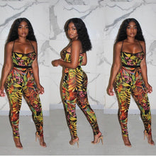 Load image into Gallery viewer, Tropical Garden Leggings Set
