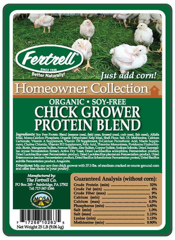 Organic Chick Grower No Soy Protein Blend