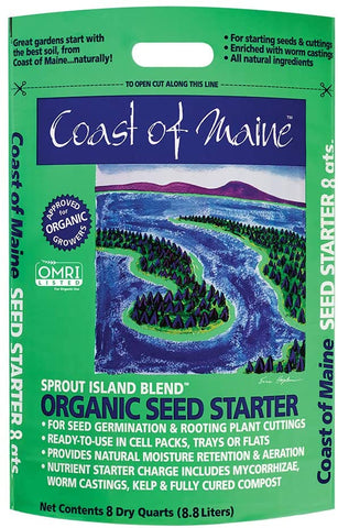 Coast of Maine Sprout Island Blend Organic Seed Starter