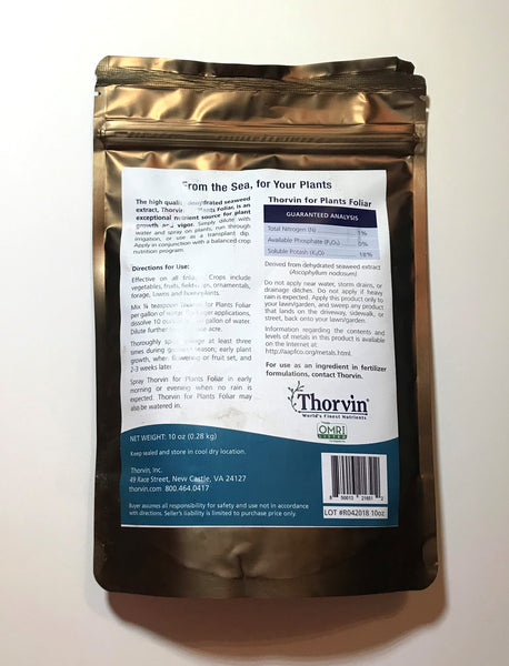 Thorvin for Plants Foliar Kelp