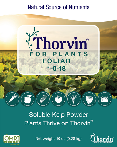 Thorvin for Plants Foliar Front Label