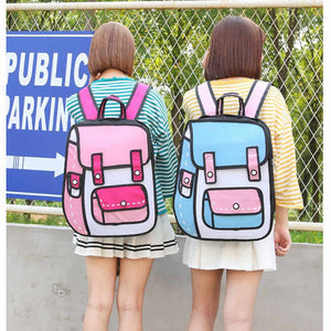 Kawaii 3D Cartoon Backpack