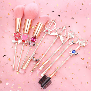 Moon Makeup Brushes Set