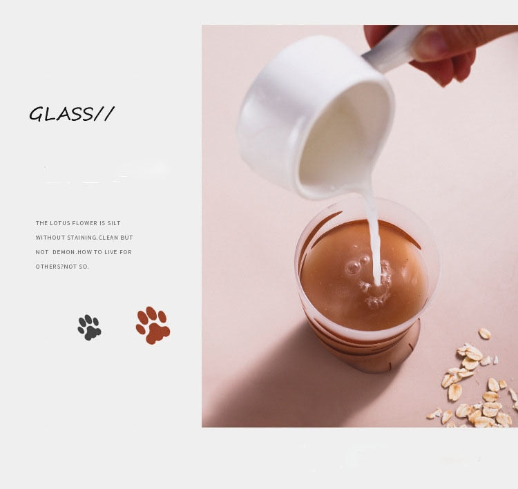 Kawaii Cat Paw Glass Cups