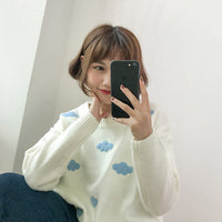 Kawaii Ulzzang Clouds Sweater