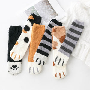 Kawaii Cat Paw Harajuku Socks