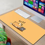 Kawaii Corgi Desk Mat