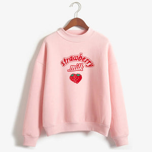 Harajuku Kawaii Strawberry Milk Sweatshirt #2