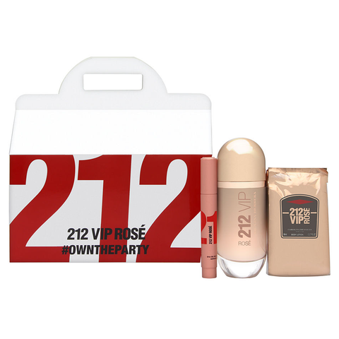 212 Vip Rose by Carolina Herrera 80ml EDP 3pc Gift Set