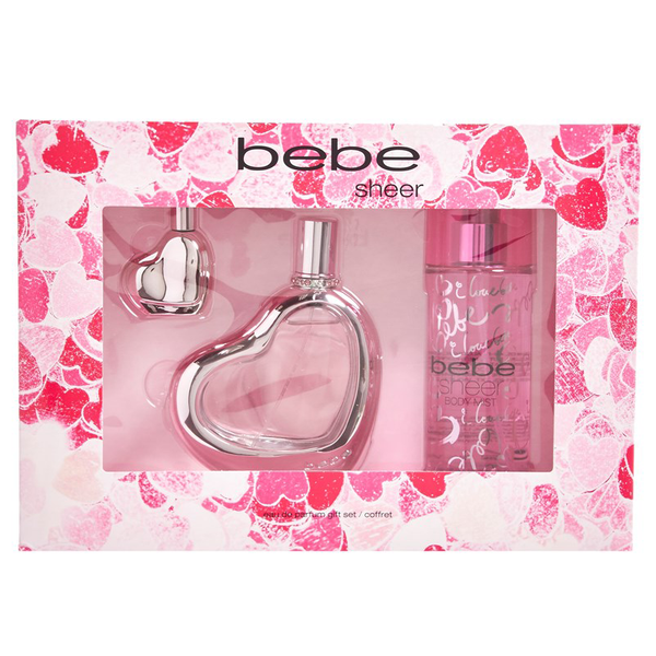 Bebe Sheer by Bebe 100ml EDP 3 Piece Gift Set
