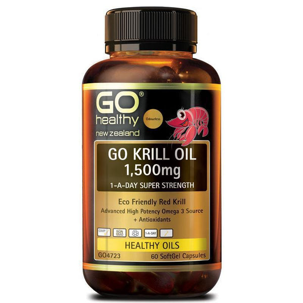 GO Healthy Krill Oil 1500mg 60 Capsules
