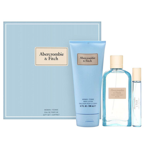 First Instinct Blue by Abercrombie & Fitch 100ml EDP 3 Piece Gift Set