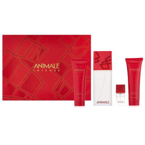 Animale Intense by Animale 100ml EDP 4 Piece Gift Set