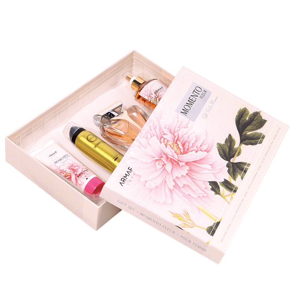 Momento Fleur by Armaf 100ml EDP 4 Piece Gift Set
