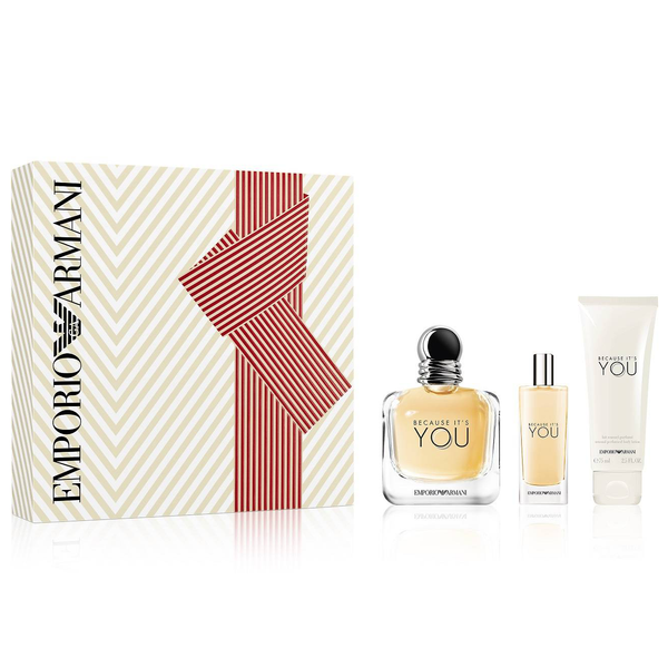 Because It's You by Giorgio Armani 100ml EDP 3pc Gift Set