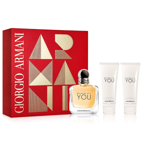Because It's You by Giorgio Armani 50ml EDP 3pc Gift Set